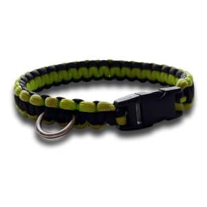 paracord dog collar cobra knot high viz