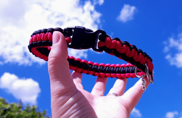 Bespoke paracord dog collar