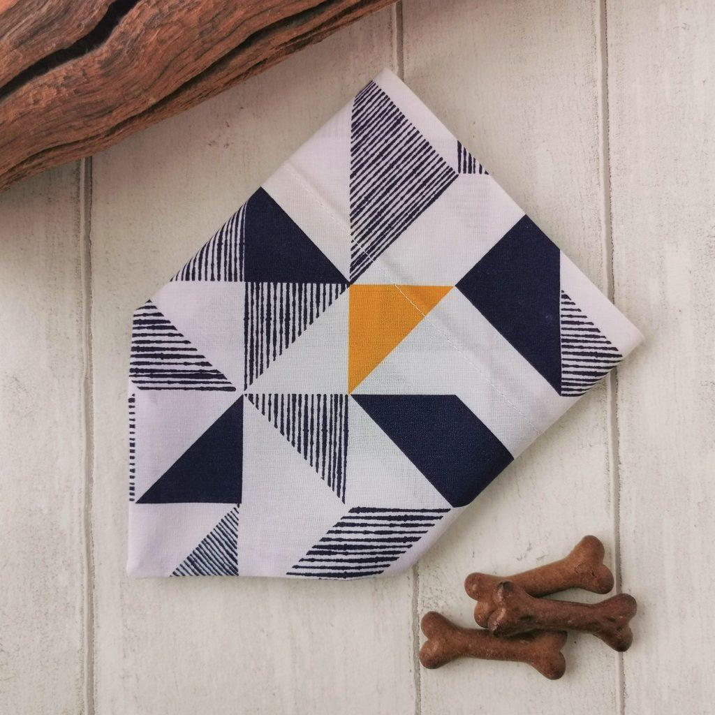 geometric print dog bandana