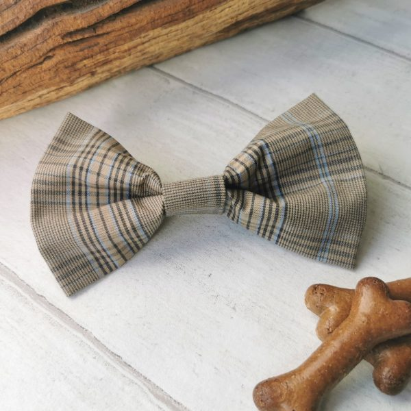 Country Plaid dog bow tie
