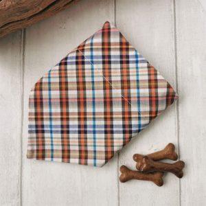 Casual check handmade dog bandana
