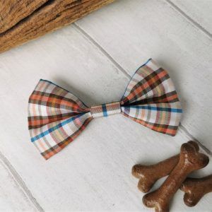 Casual check dog bow tie