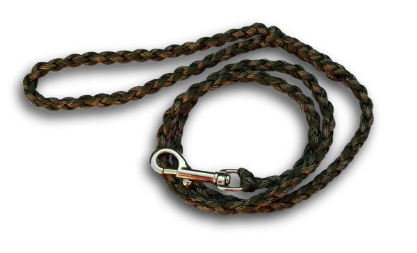 Paracord dog lead Army Woodland camo