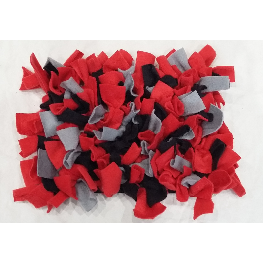 Dog snuffle mat red