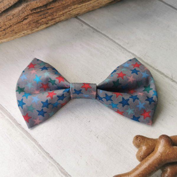 Stars dog bow tie