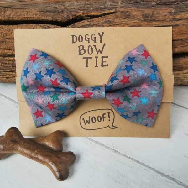 Stardust bow tie for dogs