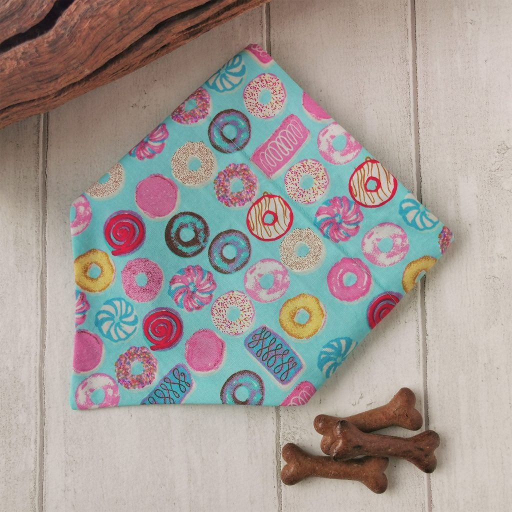 Sweet things over the collar handmade dog bandana