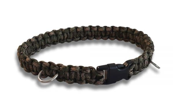 paracord dog collar cobra knot army camo