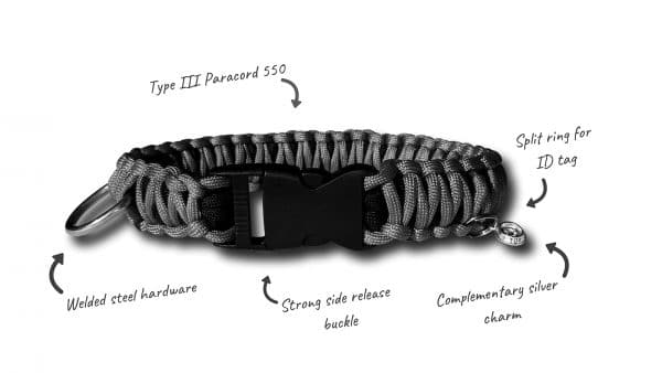 Fur Babies Paracord dog collar